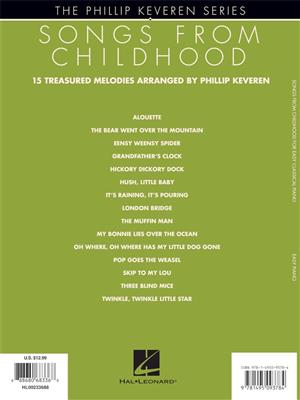 Philip Keveren: Songs from Childhood for Easy Classical Piano: Piano or Keyboard