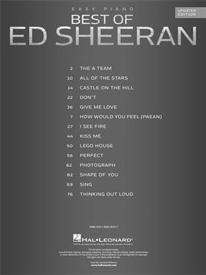 Ed Sheeran: Best of Ed Sheeran (updated edition): Piano or Keyboard