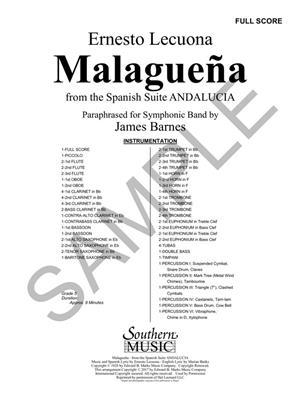 Ernesto Lecuona: Malaguena: Arr. (James Barnes): Concert Band