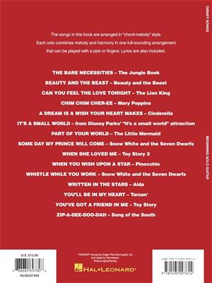Disney Songs - Beginning Solo Guitar: Guitar or Lute