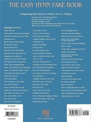 The Easy Hymn Fake Book - Over 15 Songs: Melody, Lyrics & Chords