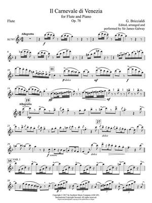 The Carnival of Venice: Arr. (James Galway): Flute & Piano