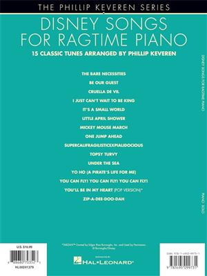 Phillip Keveren: Disney Songs for Ragtime Piano: Piano or Keyboard