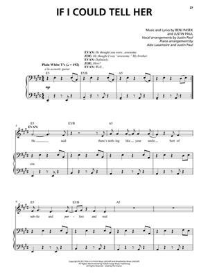 Benj Pasek: Dear Evan Hansen: Vocal