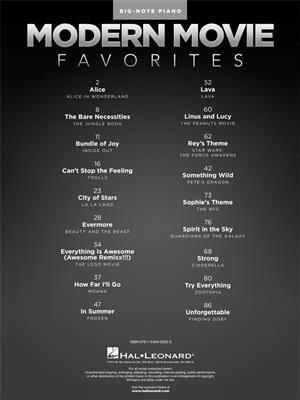 Modern Movie Favorites: Piano or Keyboard