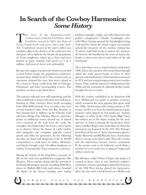 Glenn Weiser: Cowboy Songs For Harmonica: Harmonica