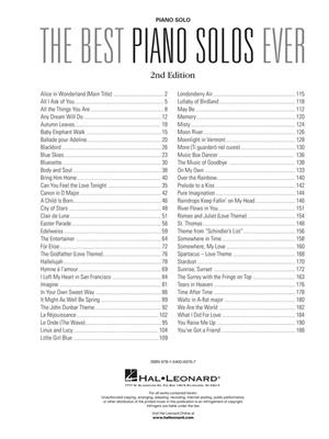 The Best Piano Solos Ever - 2nd Edition: Piano or Keyboard