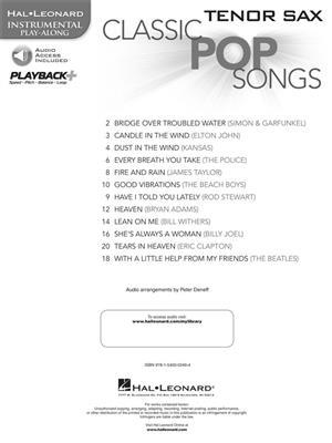 Classic Pop Songs - Tenor Saxophone: Saxophone