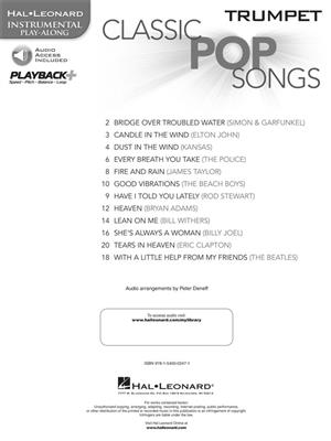 Classic Pop Songs - Trumpet: Trumpet, Cornet or Flugelhorn