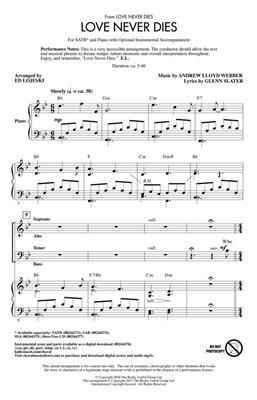Andrew Lloyd Webber: Love Never Dies: Arr. (Ed Lojeski): SATB