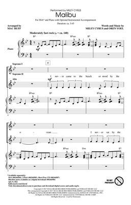 Miley Cyrus: Malibu: Women's Choir