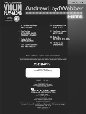 Andrew Lloyd Webber Hits: Violin