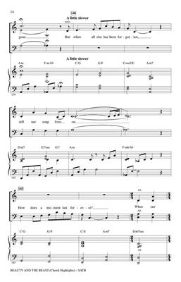Beauty and the Beast (Choral Highlights): Arr. (Audrey Snyder): SATB