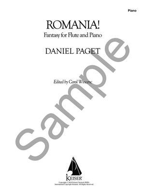 Romania! Fantasy for Flute and Piano: Flute