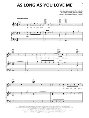 Justin Bieber - Sheet Music Collection: Piano, Vocal and Guitar (songbooks)
