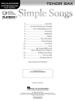 Simple Songs - Tenor Saxophone: Saxophone