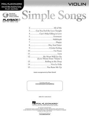 Simple Songs - Violin: Violin