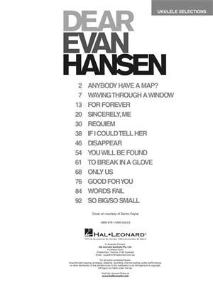 Benj Pasek: Dear Evan Hansen: Ukulele