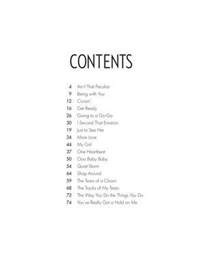 Smokey Robinson: Smokey Robinson - Sheet Music Collection: Piano, Vocal and Guitar (songbooks)