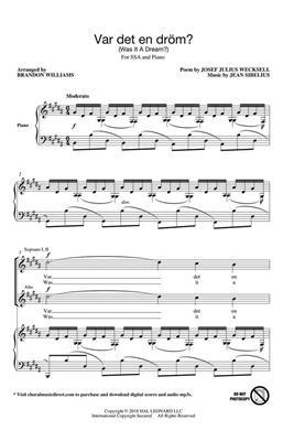 Jean Sibelius: Var Det En Drom?: Arr. (Brandon Williams): SSA