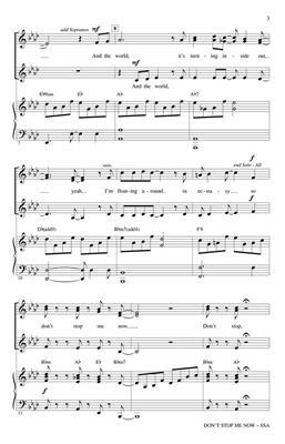 Freddie Mercury: Don't Stop Me Now: Arr. (Mark Brymer): SSA