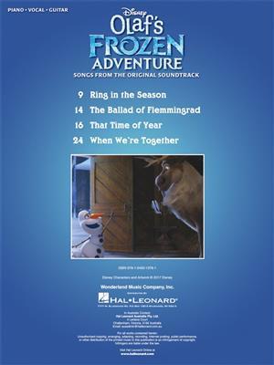 Elyssa Samsel: Disney's Olaf's Frozen Adventure: Piano, Vocal and Guitar (songbooks)