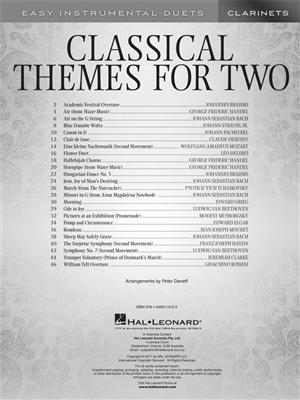 Classical Themes for Two Clarinets: Clarinet Duet