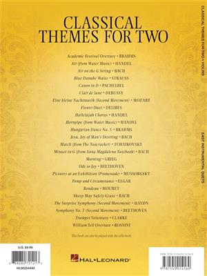 Classical Themes for Two Violins: Violin