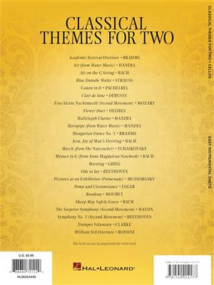 Classical Themes for Two Cellos: Cello Duet