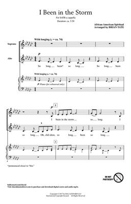 I Been in the Storm: Arr. (Brian Tate): SATB