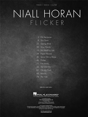 Niall Horan - Flicker: Piano, Vocal and Guitar (songbooks)