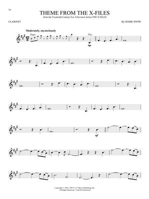 Movie and TV Music - Clarinet: Clarinet