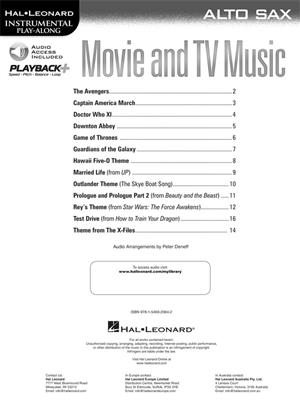 Movie and TV Music - Alto Saxophone: Saxophone