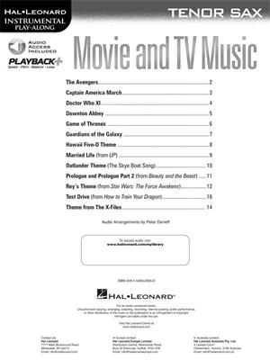 Movie and TV Music - Tenor Saxophone: Saxophone