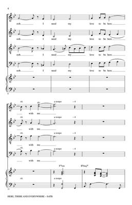John Lennon: Here, There and Everywhere: Arr. (Paris Rutherford): SATB