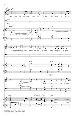 Antonio Carlos Jobim: The Girl from Ipanema: Arr. (Paris Rutherford): SATB