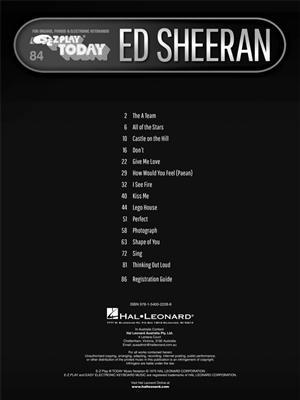 Ed Sheeran: Ed Sheeran: Piano