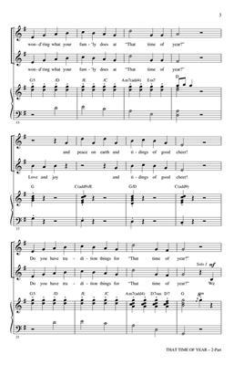 Elyssa Samsel: That Time of Year: Arr. (Mark Brymer): 2-Part Choir