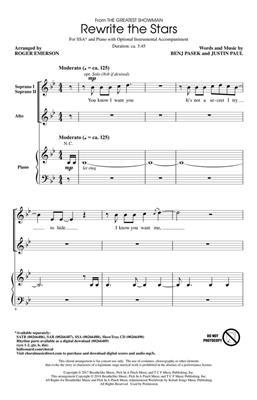 Benj Pasek: Rewrite the Stars: Arr. (Roger Emerson): SSA