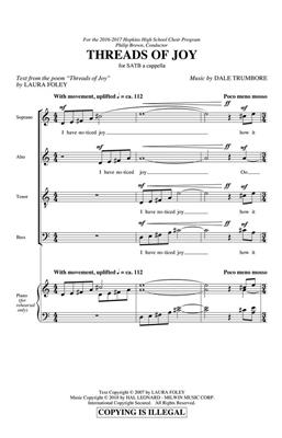 Dale Trumbore: Threads Of Joy: Mixed Choir
