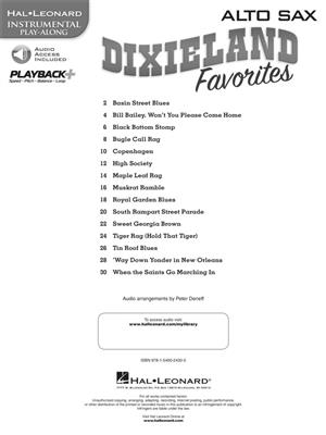 Dixieland Favorites - Alto Saxophone: Alto Saxophone