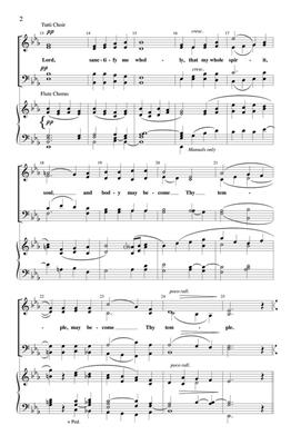 Jean Pasquet: Lord, Sanctify Me Wholly: Arr. (Lyndell Leatherman): SATB