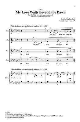 Luke Mayernik: My Love Waits Beyond the Dawn: SATB