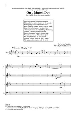 Richard Burchard: On A March Day: SATB