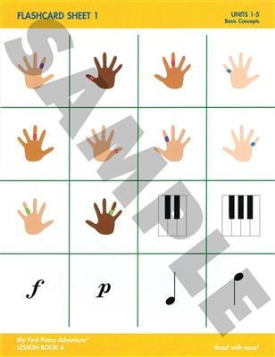 Nancy Faber: My First Piano Adventure - Flashcard Sheets: Accessories