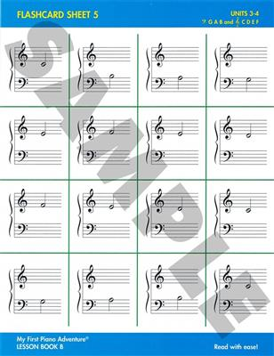 Nancy Faber: My First Piano Adventure - Flashcard Sheets