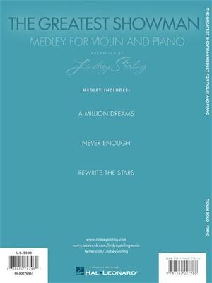 Benj Pasek: The Greatest Showman - Medley For Violin & Piano: Arr. (Lindsey Stirling): Violin