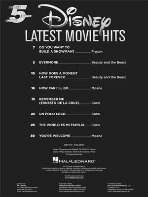 Disney Latest Movie Hits: Piano