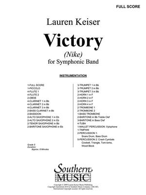 Lauren Keiser: Victory (Nike): Concert Band