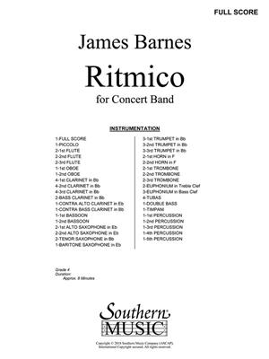 James Barnes: Ritmico: Concert Band